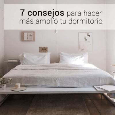 ¿Cómo hacer que tu dormitorio parezca más amplio?