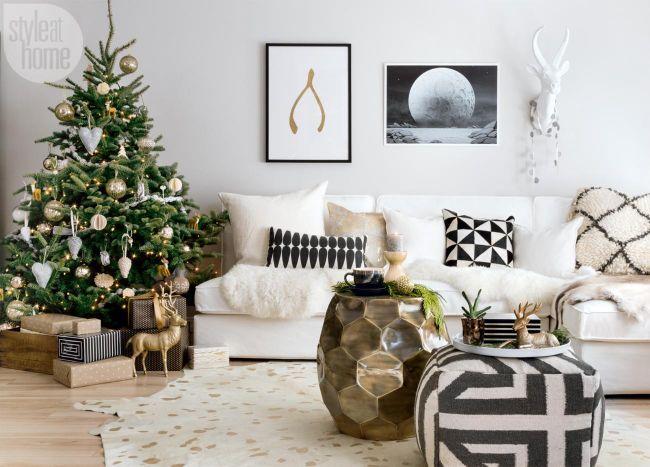 casa-de-estilo-escandinavo-para navidad