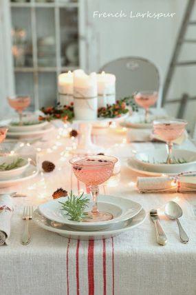 Decoración vintage mesa de Navidad