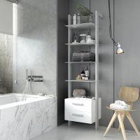 Cómo aprovechar el espacio de las paredes del baño