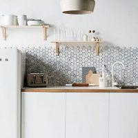 Azulejos: 8 ejemplos en gris y blanco para tu cocina
