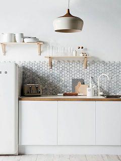 azulejos-cocina-blancos-hexagonales