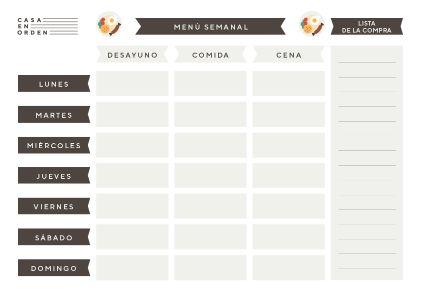 Planificador de comidas semanal