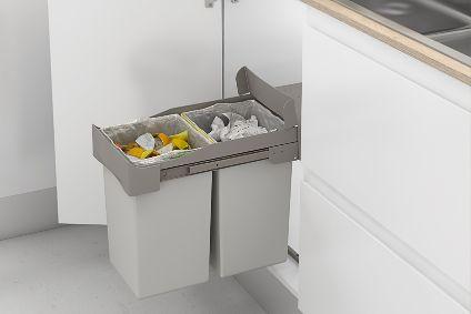 Cubo de reciclaje perfecto para el armario bajo tu fregadero