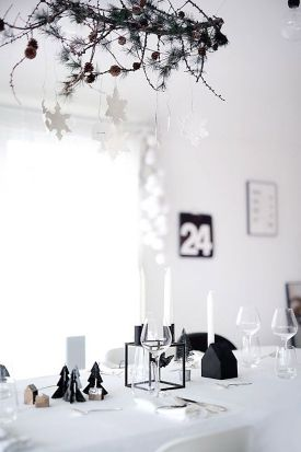 decoracion-mesa-negro-blanco-navidad