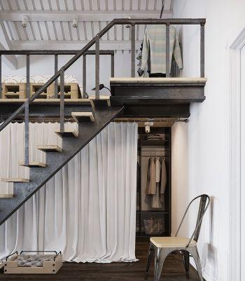 Vestidor debajo de escaleras