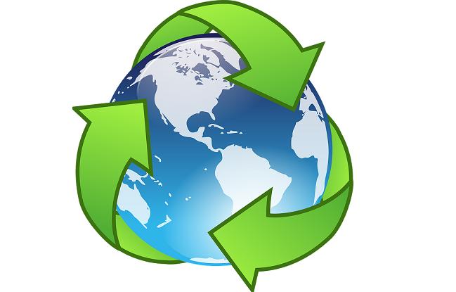 Cubos de basura para reciclar