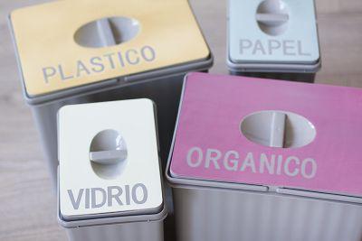 Pegatinas cubo de reciclaje