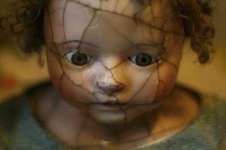 muñeca terrorifica cabeza