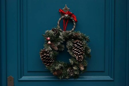 Corona decorativa de Navidad