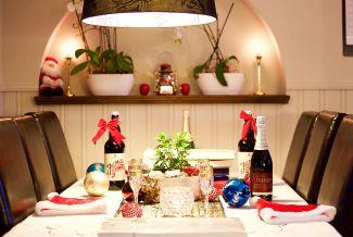 Centro de mesa para decorar en Navidad