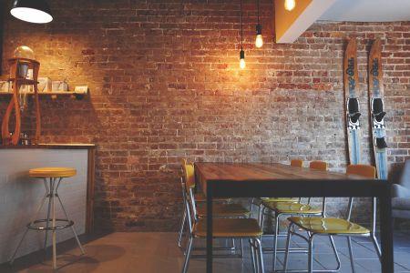 cocina unida al salon loft