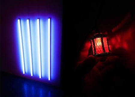luces de colores para crear ambiente