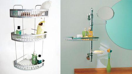 colgadores para organizacion de baños