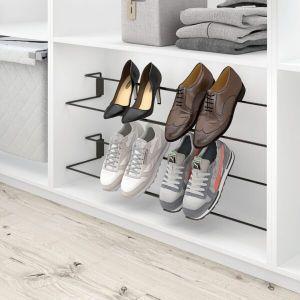 Zapatero extensible para almacenar zapatos en la base de un armario vestidor