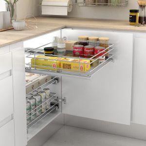 Bandeja extraíble de rejilla para armarios de cocina