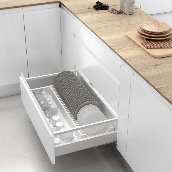 Soporte de platos para armario o cajón