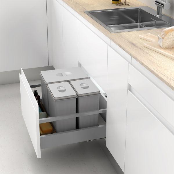 Cubos de basura y reciclaje para cajón de cocina
