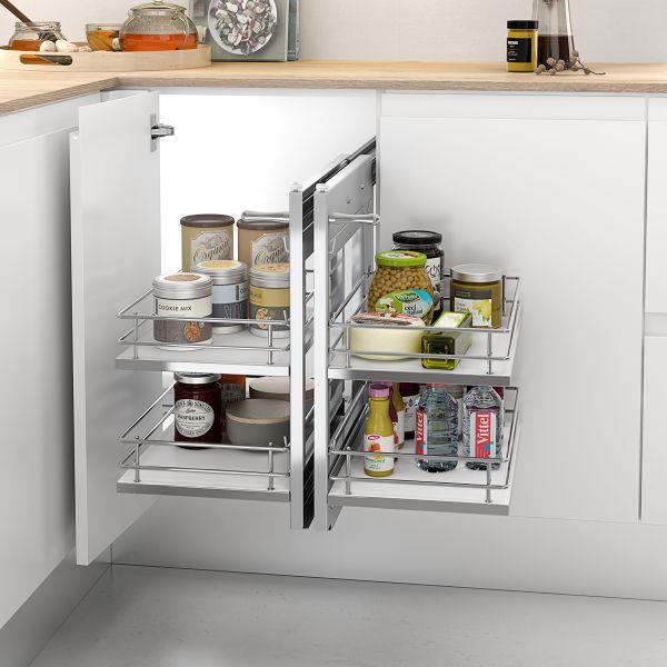 Esquinero extraíble para mueble de cocina