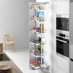 Columna despensero extraíble y giratoria para mueble de cocina ordenada