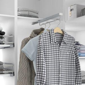 Perchero extraíble para armario vestidor
