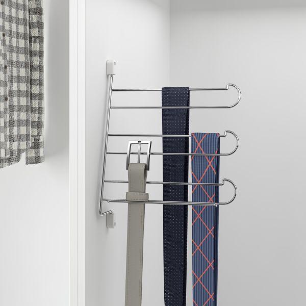 Soporte abatible para corbatas y cinturones