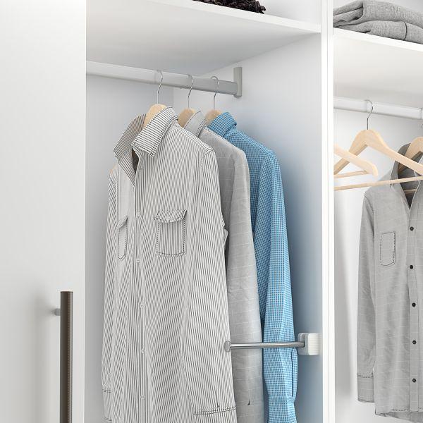 Soporte plegable de armario con doble función
