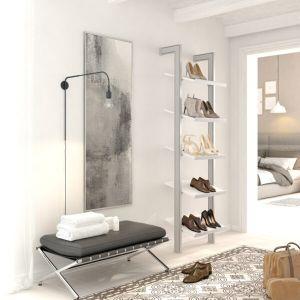 Estantería modular de 1 cuerpo para zapatos plata y blanco