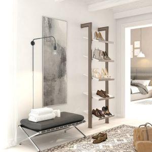 Estantería modular de 1 cuerpo para zapatos bronce y blanco