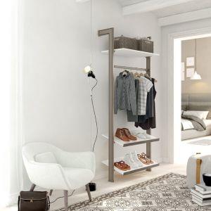 Estantería modular de 1 cuerpo para vestidor bronce y blanco