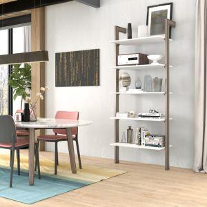modular blanco y madera