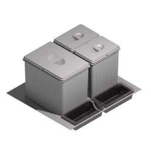 Cubos de basura y reciclaje para cajón de cocina 2