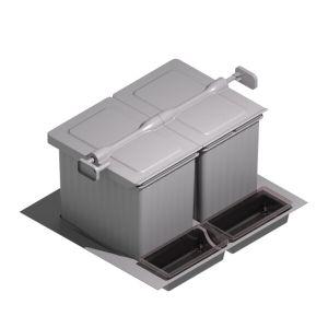 Cubos de reciclaje para cajón con tapa automática 600