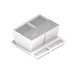 Cubos de basura y reciclaje para cajón con tapa inox 2