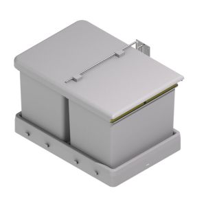 Cubo de basura rectangular
