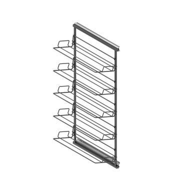 Zapatero lateral extraíble y reversible de 5 alturas en color negro Antracita.