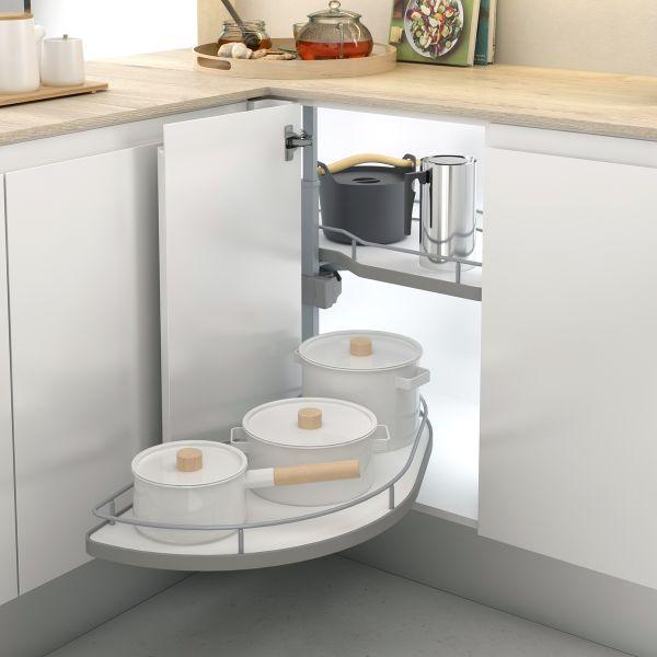 Bandejas extraíbles para armario esquinero de cocina