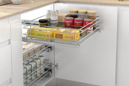 Cesto extraíble para mueble de cocina bajo