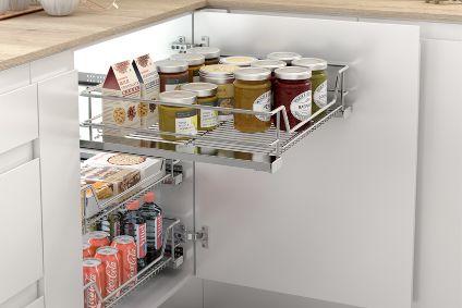 Cestillo extraíble para armario de cocina