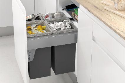 Cubos de reciclaje para interior de armario Casa En Orden