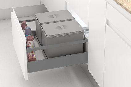Pack de dos cubos de reciclaje de basura Casa En Orden
