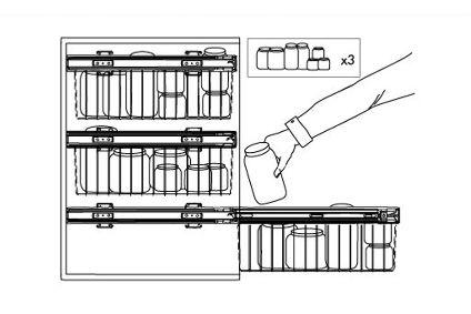 Mueble de cocina con cestos extraíbles