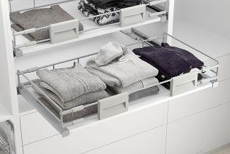 Baldas extraíbles para armario vestidor