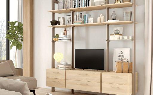 Decora tu salón con una estantería modular