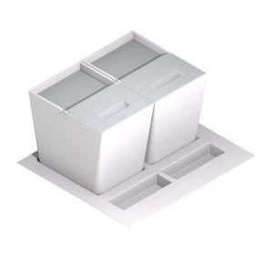 Cubos para cajón inox blanco