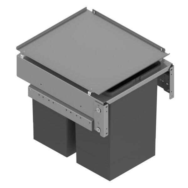 Cubo de basura con tapa para productos de limpieza