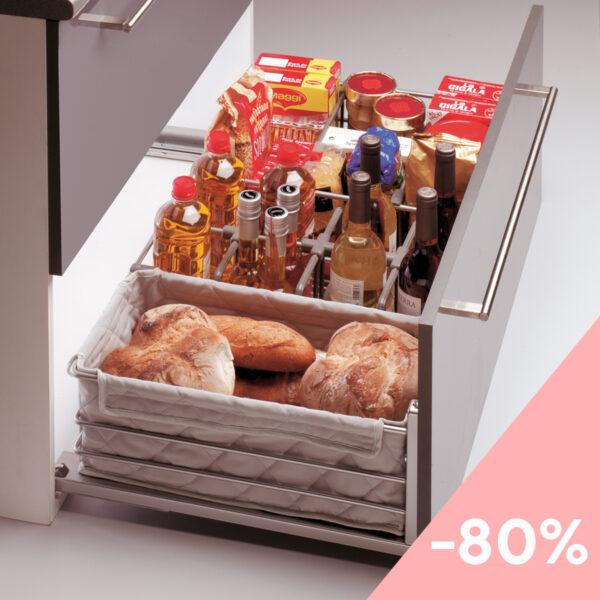 Cesto extraíble para mueble de cocina - Outlet Casaenorden