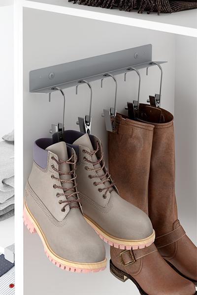 Un forma original de mantener organizadas tus botas.