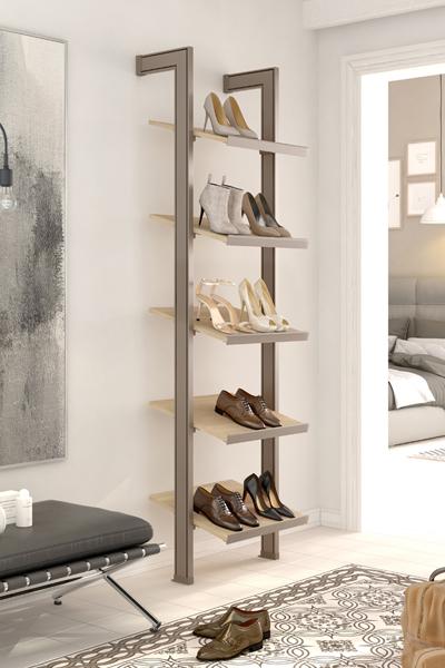 Una estantería zapatero para los amantes de los zapatos.