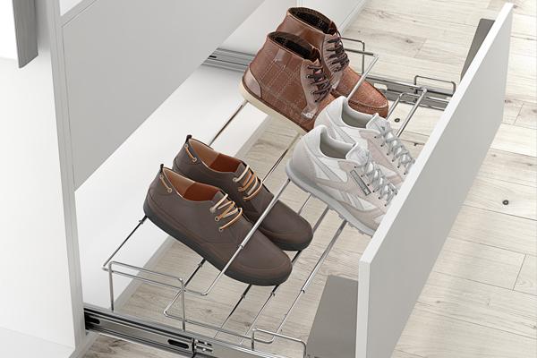 Convierte tu armario en un cajón zapatero.